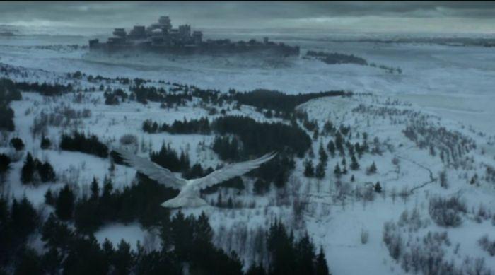 white ravento winterfell