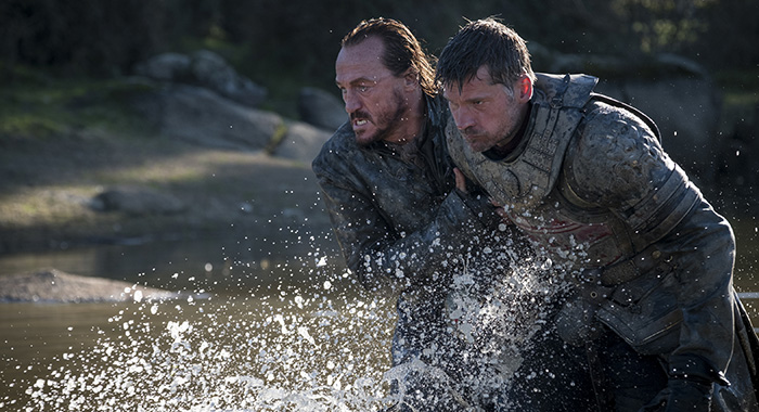 bronn and jaime walk water